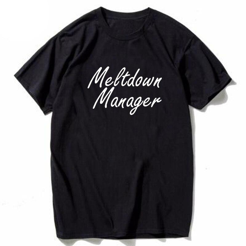 Love Manager T-Shirt Mom Life Shirt Funny Mom Tops Unisex Gray Black Tshirt Hipster Aesthetic Outfits Female Tshirts
