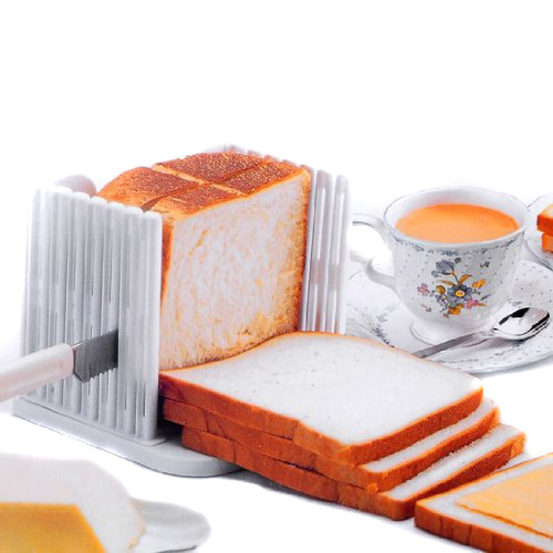 Trancheuse à pain pliable et réglable en plastique pain grillé coupe-Sandwich moule outils de cuisson Gadgets de cuisine