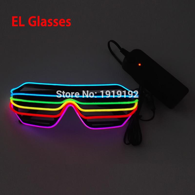 6 또는 7 색 쿨 엘 안경 파티 완구 모든 종류의 파티 및 할로윈 생일에 대 한 네온 LED 안경 3V에 의해 꾸준한 드라이버
