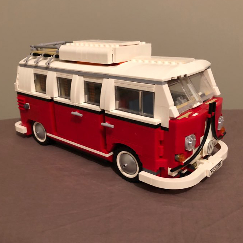 building bricks 21001 1354Pcs Create Series Creator Volkswagen T1 Camper Van Model Building Kit Blocks Bricks Toys 10220 сучкорез bahco p16 50 f