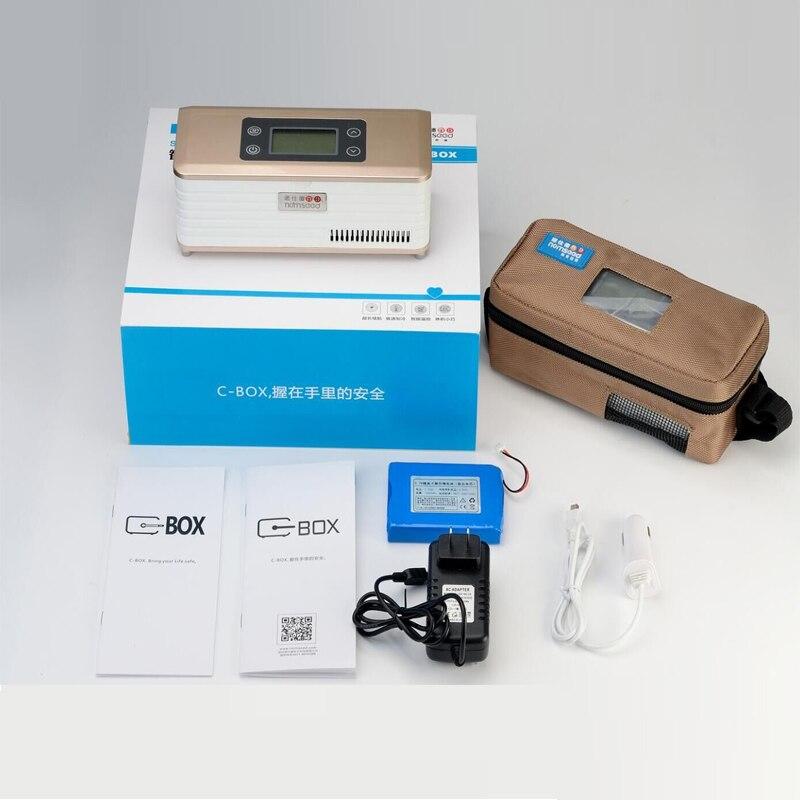 Mini réfrigérateur à insuline/Micro refroidisseur à insuline médicale/réfrigérateur portable, réfrigérateur portable pour usage diabétique