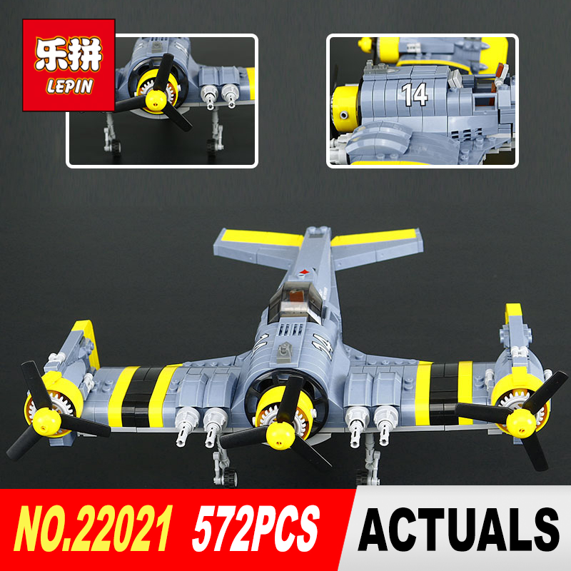 Lepin 22021  919Pcs Technical Series The Beautiful Science Fiction Fighting Aircraft Set Building Blocks Bricks Toys Model Gift the great science fiction