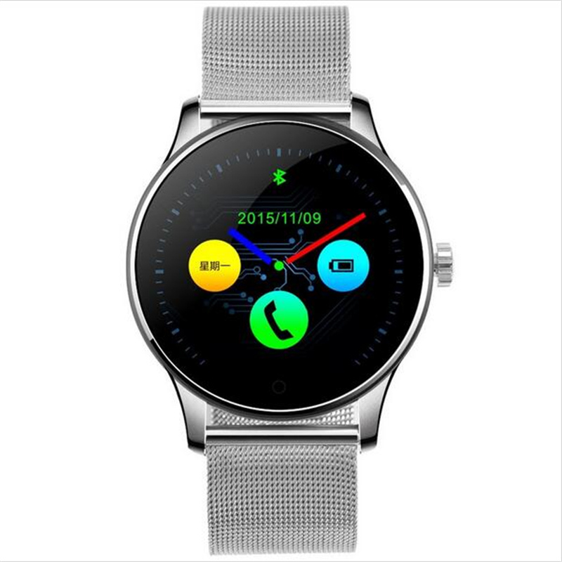 цена HOT K88H Bluetooth Smartwatch Heart Rate Monitor Remote Camera Push Messages For Android ISO MTK2502C Smart Watch PK GW01 S928