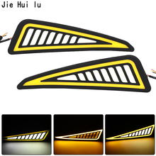 цена на Car Styling drl COB LED Lamp Flexible DRL Universal Daytime Running Light Car Driving lamp turn signal drl cob waterproof 12v