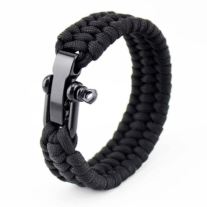 LOULEUR-2017-Surival-Paracord-Bracelet-Men-Outdoor-Camping-Woven-Parachute-Braided-Rope-Stainless-Steel-Buckle-Survival