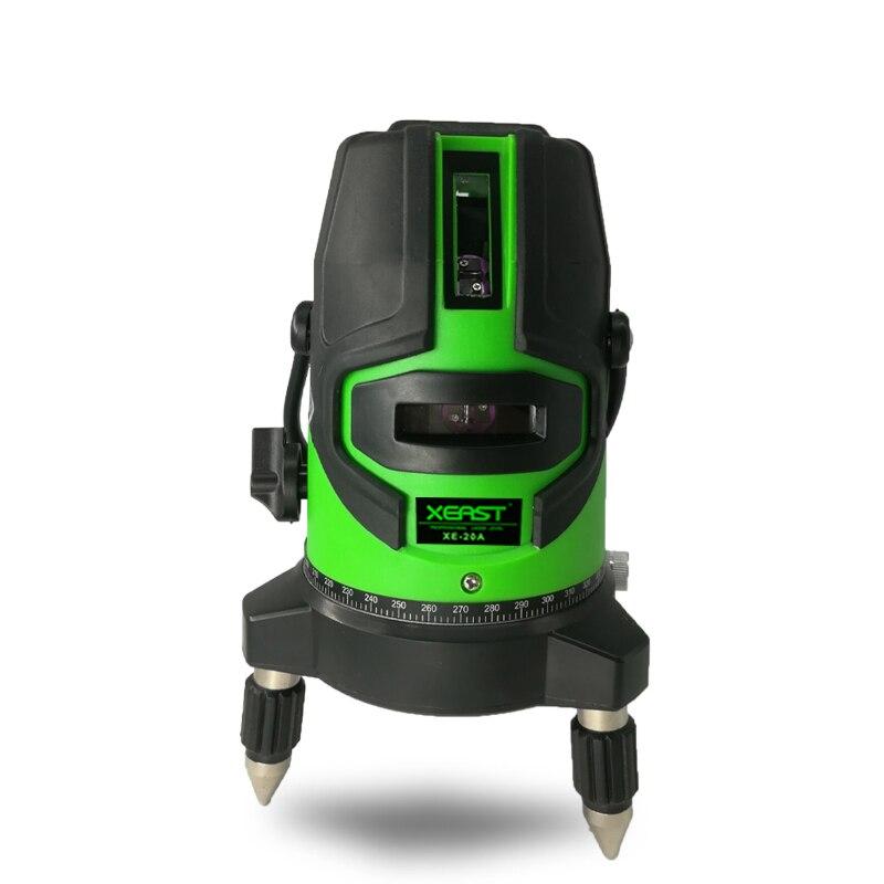 XEAST 5 linien Green laser level meter 360 grad outdoor laser ebene werkzeug instrument