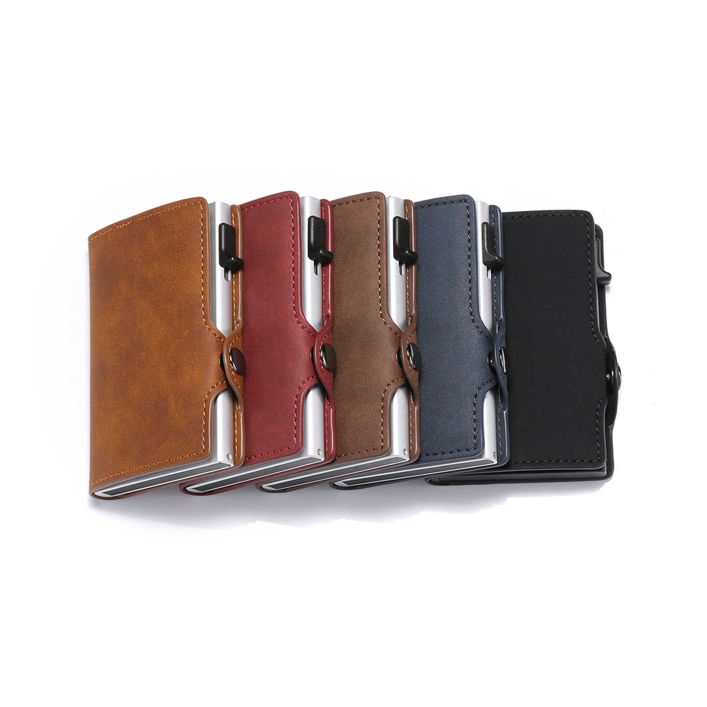 BISI 五郎 2019 ユニセックス RFID カードホルダー財布ヴィンテージカード財布スリムポップアップビジネスマネーバッグ盗難防止カードドロップ出荷