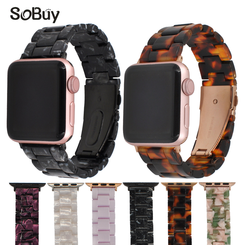 So buy Resin watchband for apple watch for iwatch series 3/2/1 band 42mm Wriststrap vogue bracelet 38mm strap i watch Wrist belt so buy sport silicone band strap for apple watch nike 42mm 38mm bracelet wrist watch watchband iwatch apple bands series 3 2 1