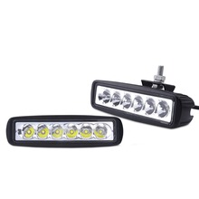 2pcs offroad 18W LED off road work light bar 18w LED worklight lamp spot flood beam 12V/24V for trucks ATV 4X4 Car tractor
