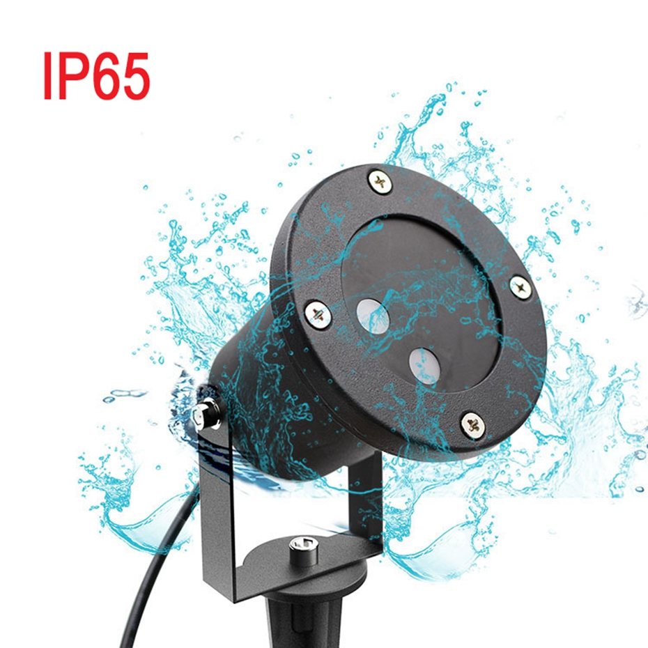 HoozGee Solar Flood Lights Star Colorful Projector Lamp Christmas Laser Spotlights LEDs for Lawn Garden Home Party KTV