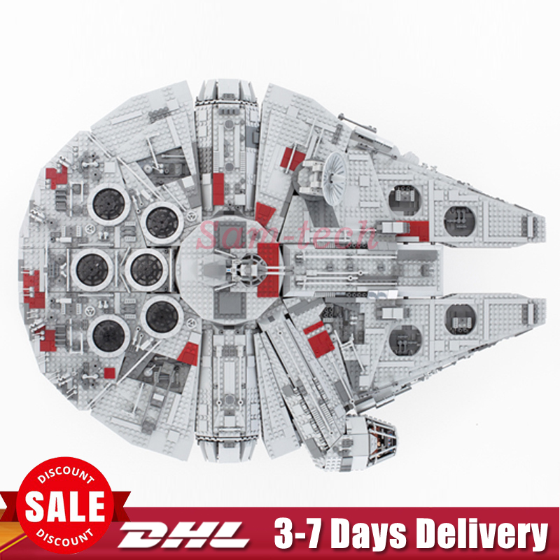 2018 IN STOCK Star LEPIN 05033 5265Pcs Ultimate Wars Collector's Millennium Falcon Model Building Blocks Bricks Toy Gift 10179