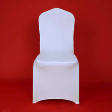100pcs Hotel Lycra Stretch Party Spandex Chair Covers White Polyester Wedding ivory Chair Cover From China Factory