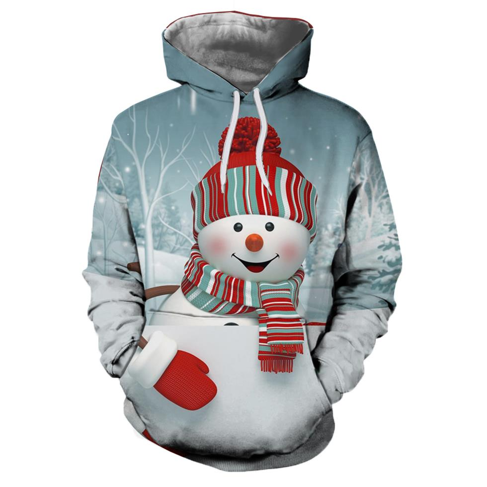 Ice Snow Christmas Christmas Hoodies 3d Sweatshirts Men&Women Hoodie Print Couple Tracksuit Autumn Winter Hooded Hoody Clothing