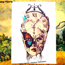 Nu-TATY The Passage Of Time Temporary Tattoo Body Art Flash Tattoo Sticker 21x15cm Waterproof Fake Henna Painless Tattoo Sticker