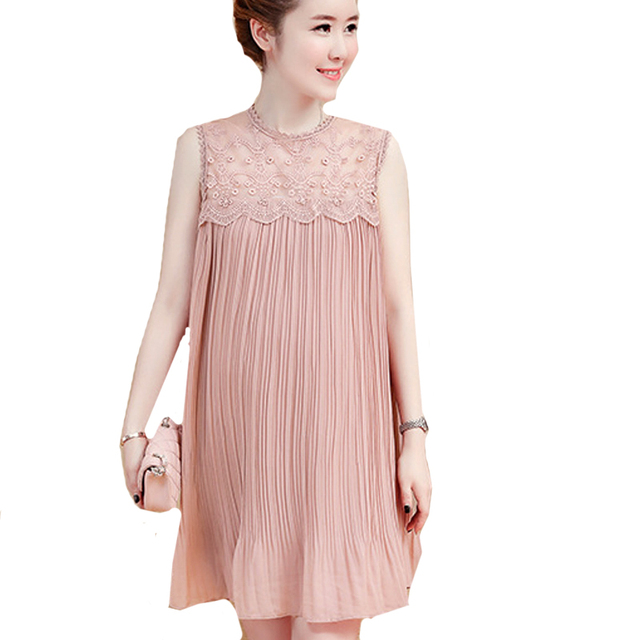 2cd6ca763d Lace + Chiffon Pleated Maternity Dress Evening Pregnancy Clothes Maternity  Clothes For Photo Shoots 2018 Summer