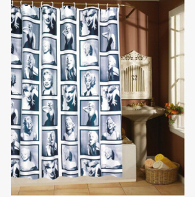 Marilyn Monroe Pattern Waterproof Polyester Pirate Shower Curtain Curtains Bathroom Products Bath
