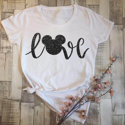 Girls Minnie T-Shirt Mouse Micky Love tshirt Women Workout Tee Tumblr Shirt Holiday Shirt 1