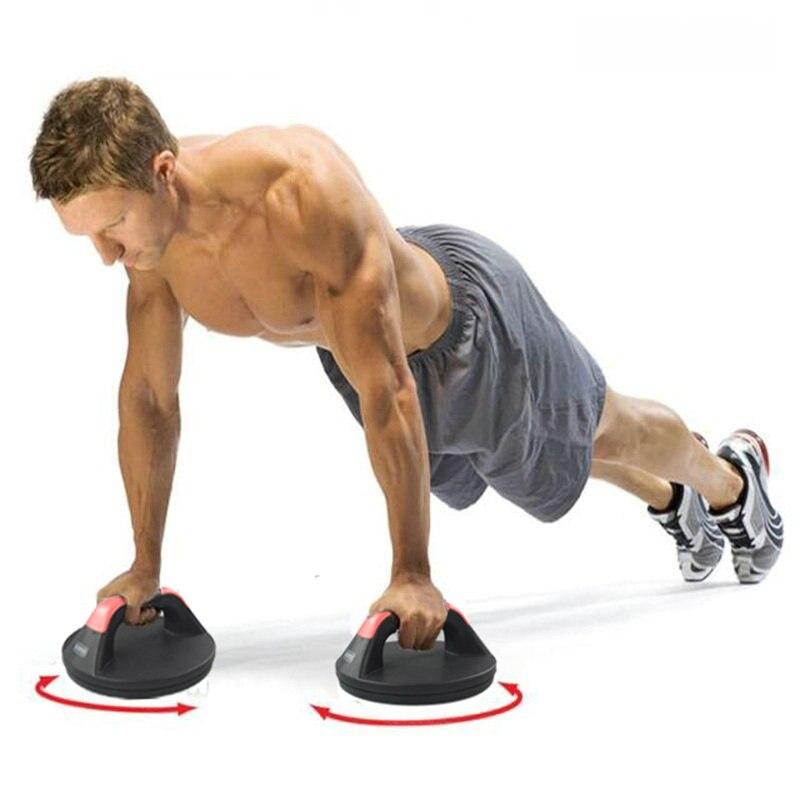 Supports de poussée rotatifs en matériau ABS, barre de poussée en caoutchouc antidérapant, entraîneur de Muscle de bras peut charger 200 KG