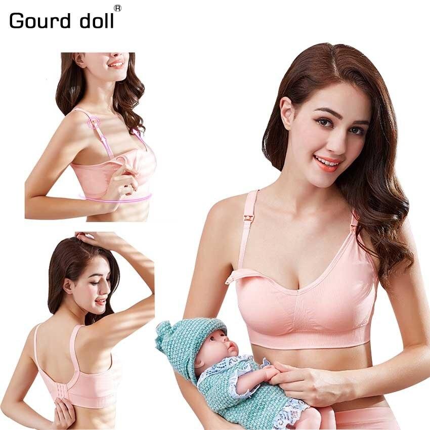 f63ebc1b8 Boneca cabaça Algodão Maternidade Enfermagem Sutiã de Amamentação Evitar A  Flacidez para Mulheres Grávidas Cueca Plus
