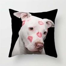 Fuwatacchi Dogs Throw Pillows Cushion Covers Dog Couple Pillow for Home Sofa Decor Funny Animal Square Plush Pillowcases