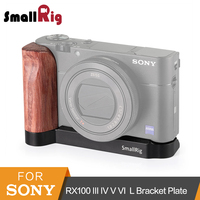 SmallRig L Plate for Sony RX100 III IV V VI L Bracket Mounting Plate Quick Release Tripod Baseplate With Wooden Handle 2248