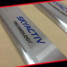 304 Из Нержавеющей Стали Дверной Порог Скребок Протектор CX-5 SkyaCtiv Для 2014 Mazda 3 AXELA M3 Седан Хэтчбек АВТОМОБИЛЬНЫЕ Аксессуары