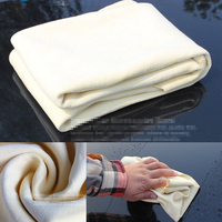 Free Shipping Drying Cleaning Towel Natural Genuine Leather Chamois Shammy Sponge Cloth Sheepskin Absorbent Towel Car