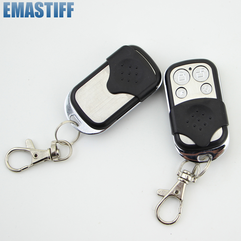Free shipping  433MHz Wireless Keyfobs Keychain Metallic Metal Remote Control for Home Security Alarm System