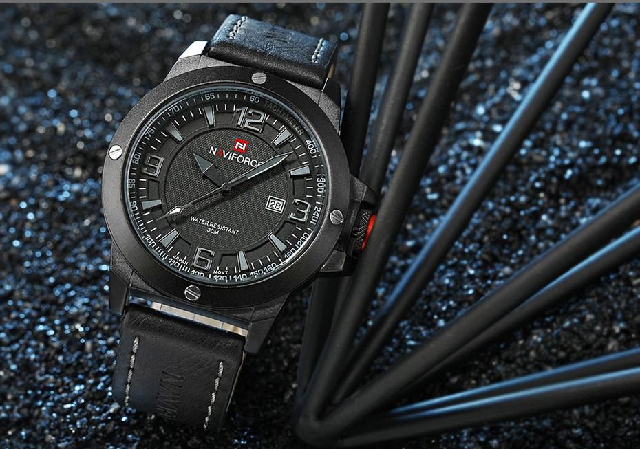 2017 Nouveau Luxe Marque Naviforce Hommes Classique Militaire Montres Hommes de Quartz Date Horloge Homme Poignet Montre de Sport Relogio Masculino 12