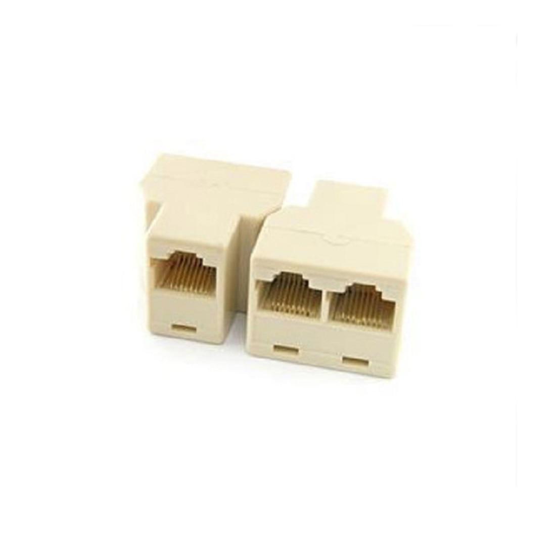 Marsnaska RJ45 Splitter Connector CAT5 LAN Ethernet Splitter Adapter 8P8C Network Dual
