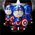 Doraemon cos capitán américa real 4400 mah banco de la energía cargador de batería portátil para iphone samsung