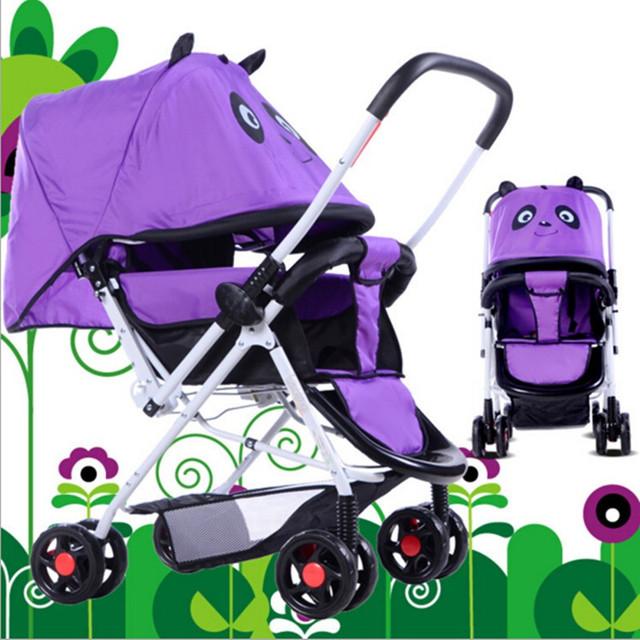 Cochecitos de Bebé de Lujo del bebé Cochecito Trono Puede Sentarse o Acostarse Plegado Cochecito Trono Bebé Durabilidad 3 años Púrpura, Rojo