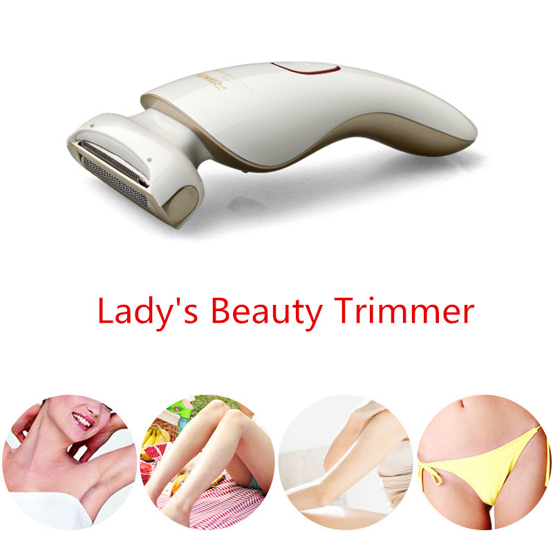 Аккумуляторный триммер для девушек, для красоты, 3 в 1, плавающее лезвие, моющаяся электробритва для женщин, для тела, зоны бикини, для бритья волос, RIWA 770A