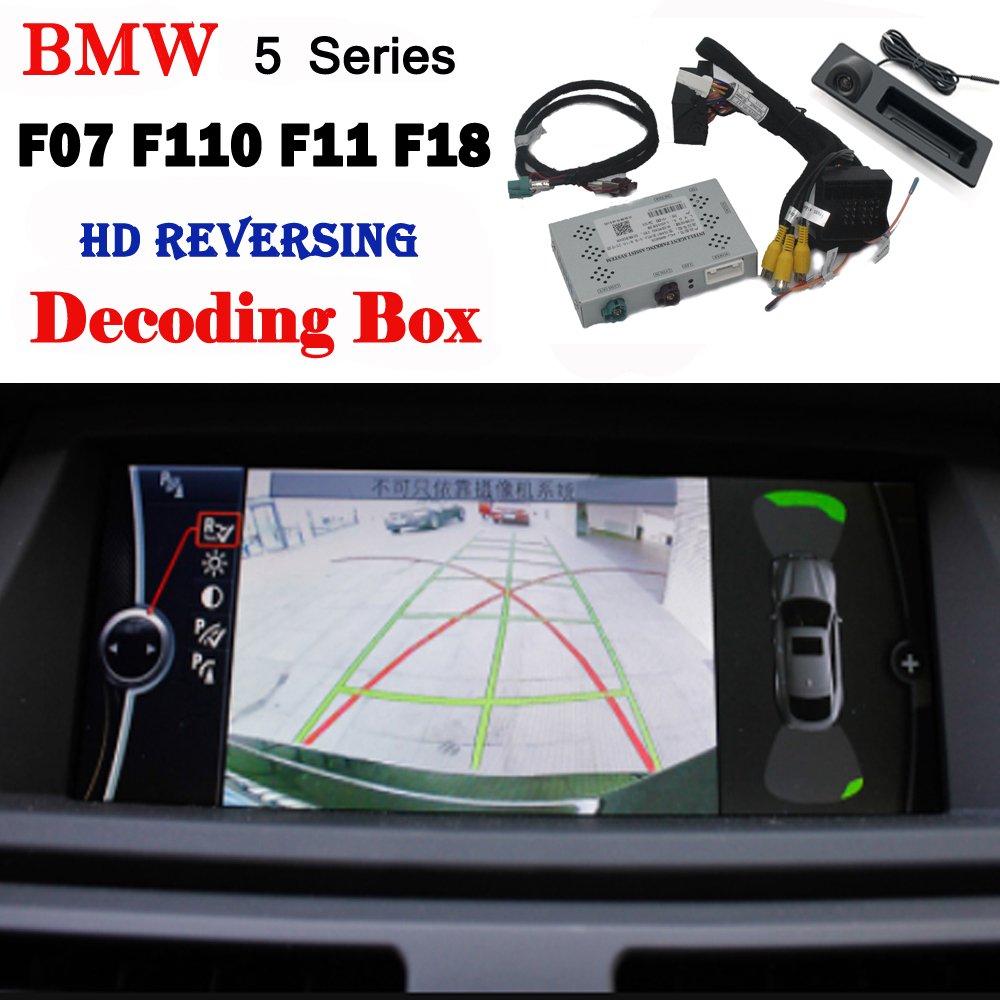 Rear Camera For BMW 5 Series F07 F10 F11 F18 2010~2019 Interface Original Screen Display Upgrading System Parking CAM Decoder