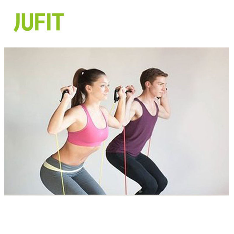 JUFIT Fitness Resistance Bands Latex Workout Musculation  Exercise Equipment Elastic For Sports
