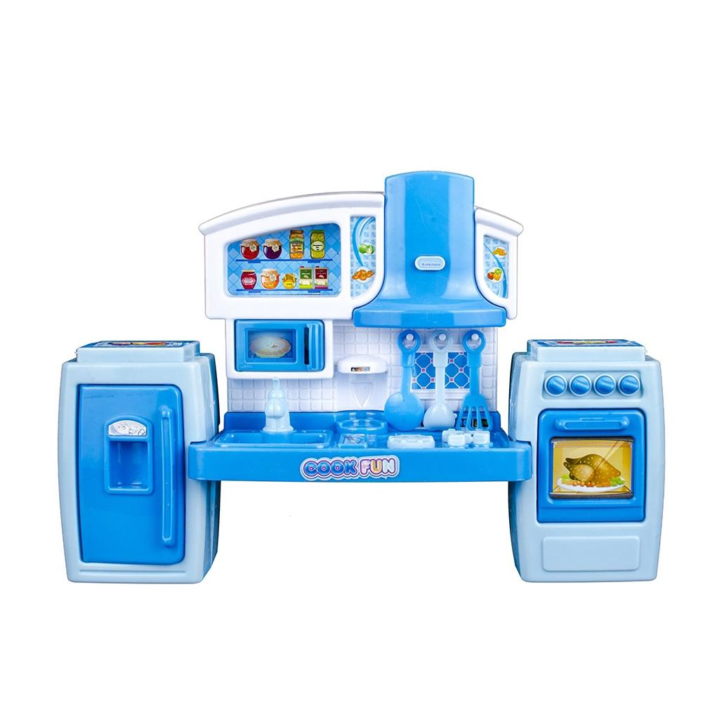 LeadingStar Kids Kitchen Pretend Play Toys Light Music Simulation Cooking Tableware Set Baby Play House Toy zk35 39pcs children kitchen toy house simulation pretend play cutting food set cooking cook baby tableware kitchen for kids brinquedo
