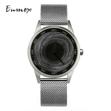 2019 Enmex design wristwatch 3D Black Hole creative design stainless steel case Oil Painting face fashion quartz clock watch 2019 enmex design wristwatch 3d moon creative design stainless steel case oil painting face clock fashion quartz clock watch
