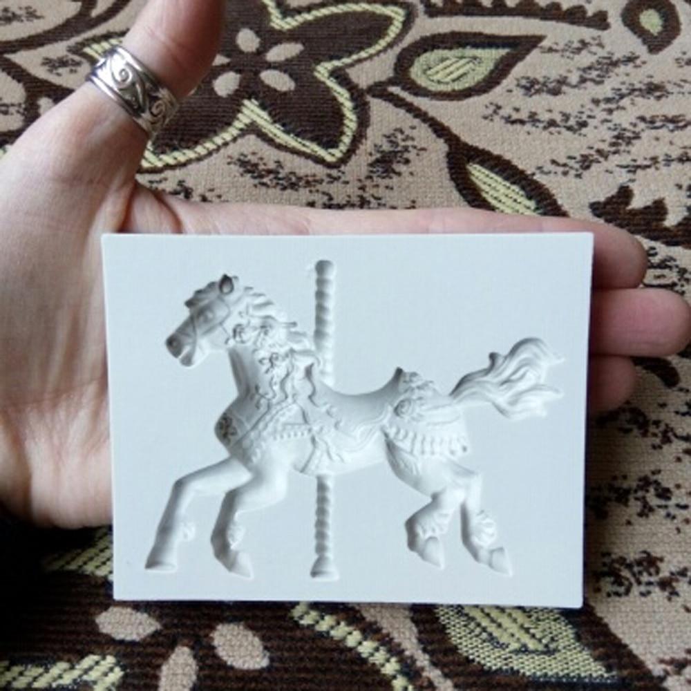 3d Karussell Pferd Silikon Kerze Form Fimo Lehm Seife Formen Fondant