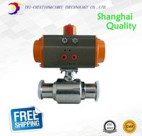 1 1 4 DN25 Food Grade Pneumatic Valve 2 Way 316 Quick Installed Sanitary Stainless Steel