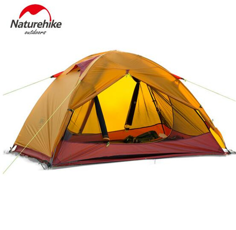 Naturehike Ultralight Outdoor Camping Tent 1-2 Person 20D Silicone Farbic Tent Four-Season Hiking Tent waterproof Moisture-proof professional camping gear 2 people outdoor 4 reason camping tent hiking climbing backpacking mountaineering tourism ultralight
