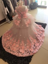 Y02-X013 Luxurious Children's kid's Princess flower Girl Dress Summer Wedding Birthday Party Dresses Costume custom made
