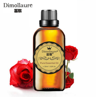 Dimollaure Rose Essential Oil Skin Care Relax Spirit Aphrodisiac Aromatherapy Fragrance Lamp Spa Body Massage Foot