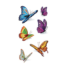 Wyuen Butterfly Temporary Tattoo For Adult Waterproof Tatoo Stickers Body Art Beautiful 3D Butterfly Fake Tattoo For Women A-078