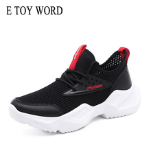 E TOY WORD Women shoes 2019 autumn new black mesh students wild sports casual small white womens breathable sneaker