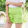 New 2017 candy color women shorts casual ladies shorts hot sale plus size XXL solid cotton female shorts femininos