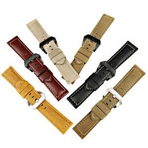 Image 5 - MAIKES New strap watchbands 22 24 26 mét men đen genuine leather ban nhạc đồng hồ strap xem phụ đối Panerai hoặc samsung gear s3