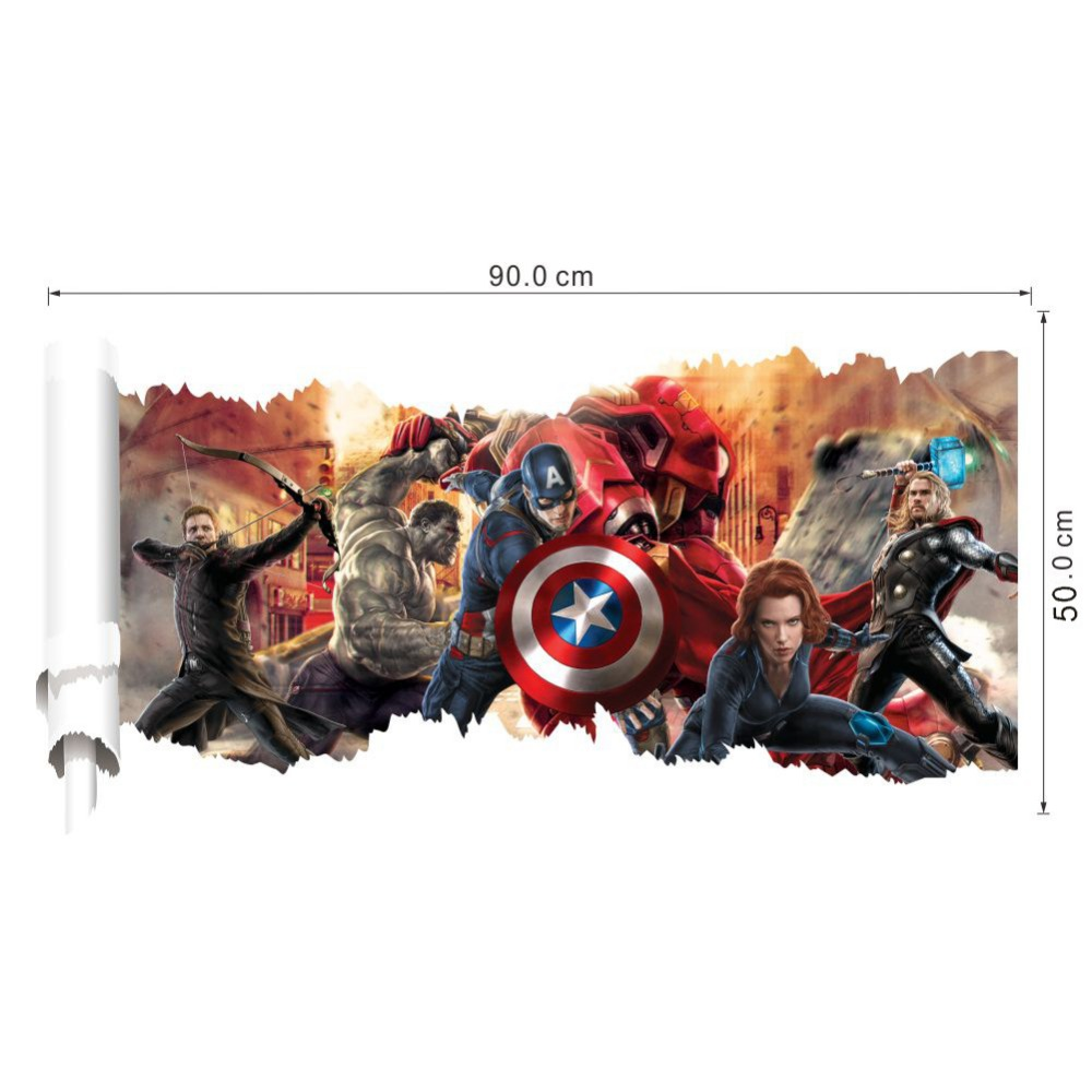 HTB1jw9lgDnI8KJjy0Ffq6AdoVXaI - 3D movie Marvel hero Hulk iron Man For Kids Room