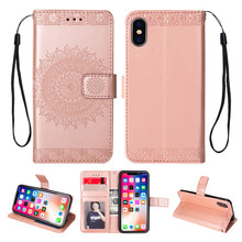 Fashional leather Flip cover wallet flower phone covers for Apple iPhone Xs max cases for iphone XR 8 7 plus 6 6s plus case цена в Москве и Питере