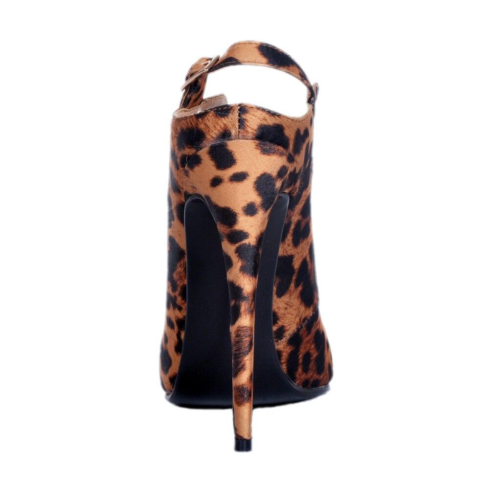 Chaussures Plus Léopard Dames Bout L'intention Taille Haute 4 Nouveau Nous Femme Pointu Initiale Mince Leopard 15 Élégant Pompes Sexy Ef1102 Talons Femmes nFSZqO