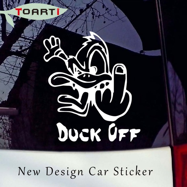 1012cm angry duck car bumper sticker funny drift vinyl truck car styling window decals